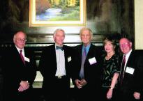 From left: Raymond Satter, Chuck Turner, Ben Aisenberg, Brenda Taylor and Bob Kapelke.