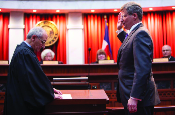 Justice Gabriel (right) and Court of Appeals Chief Judge Alan M. Loeb (left).