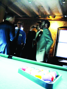 Networking in Action at Barristers After Hours.