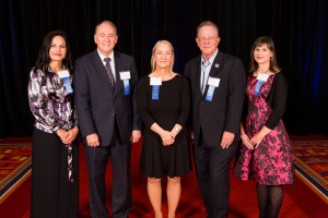 Judge Clarisse Gonzales Mangnall, Judge James S. Casebolt, Magistrate Kristina B. Hansson, Justice Gregory J. Hobbs, Jr. and Judge Angela R. Arkin were honored at the 13th Annual Judicial Excellence for Colorado Dinner.