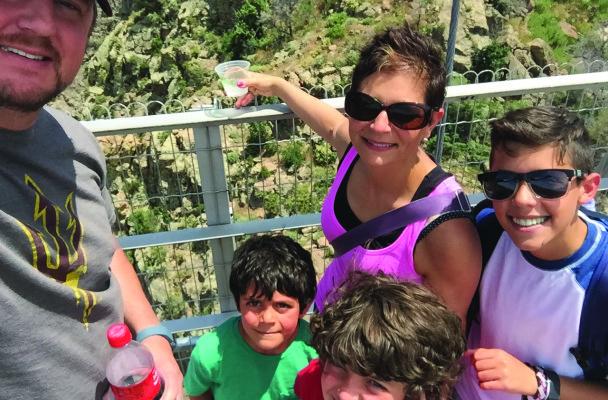 Tia Zavaras and her family at the Royal Gorge.