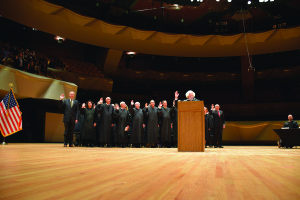 Chief Justice Nancy E. Rice administered the Oath of Admission.
