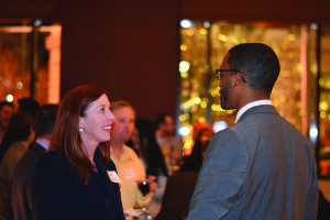 DBA President Janet Drake mingled with members.