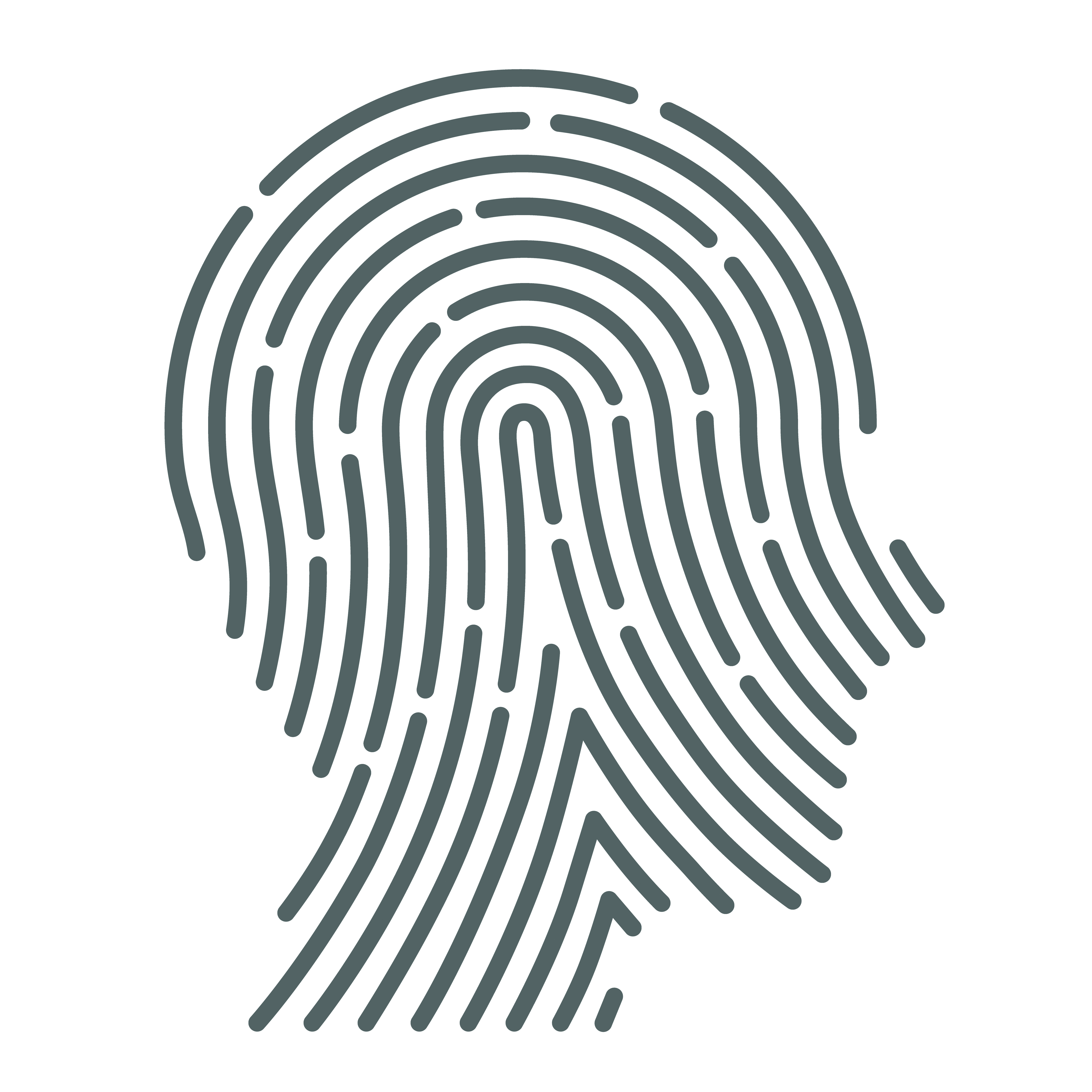 Thumb print recognition