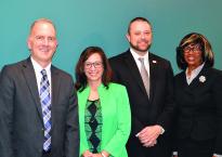 CBA/DBA Executive Director Patrick Flaherty, CBA President-Elect Patricia Jarzobski, CBA President Loren M. Brown and ABA President Paulette Brown.