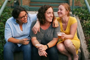 Jen Cuesta, Betsy Lay and Kate Power.