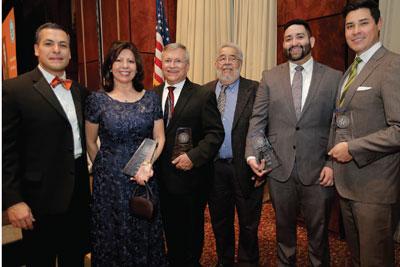 CHBA honorees: CHBA President Arnulfo D. Hernández; Dolores Atencio, CHBA's Lifetime Achievement Award; Law School Sí Se Puede, CHBA's Community Service Award; Ron Gallegos, CHBA's Community Service Award; Ron Arguello, Outstanding New Hispanic Lawyer; and Scott Martinez, CHBA's Chris Miranda Outstanding Hispanic Lawyer.