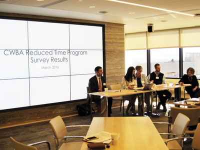 Panelists highlight the advantages and disadvantages of existing reduced hours programs.
