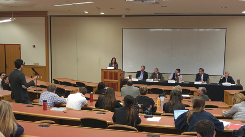 Panelists debating the state of the death penalty at the DU Criminal Law Review's inaugural symposium.