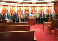Pro Bono Recognition Ceremony attendees and speakers.