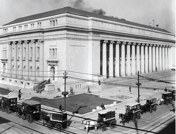 A glimpse of the old post office. Photo courtesy of the Denver Public Library Western History collection.