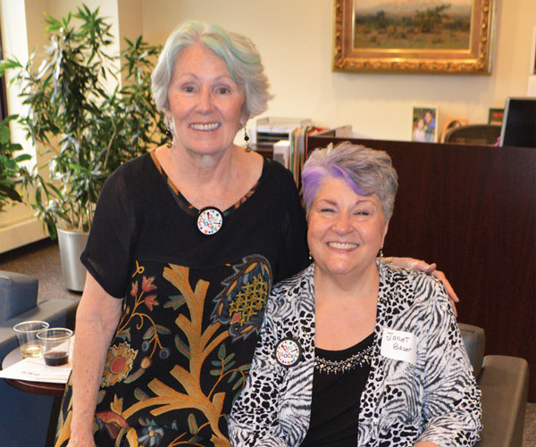Reba Nance and Janet Bauer.