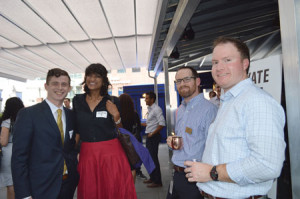 At-the-CBA-and-DBA-YLD-Happy-Hour-June-25,-2015---Matthew-Kilby,-Sutate-Ramaiah,-and-DBA-YLD-Council-Members-Kevin-McReynolds-and-Chris-Levkulich